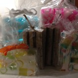 assorted soaps wraped