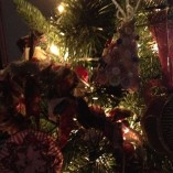 Christmas ornaments button tree medium